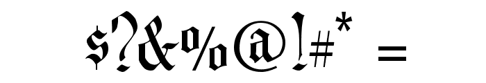 CAC Valiant Font OTHER CHARS
