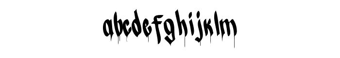CALLI CHIZELRegular Font LOWERCASE