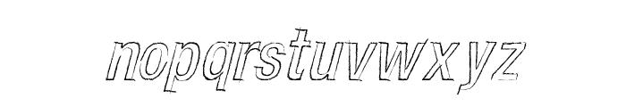 CARBONCILLO PALO Italic Font LOWERCASE
