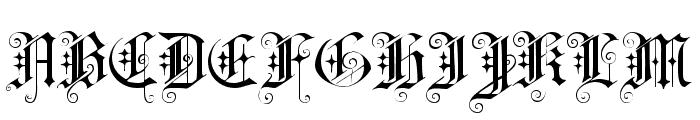 CAT Altgotisch Font UPPERCASE