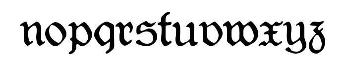 CAT Liebing Gotisch Font LOWERCASE