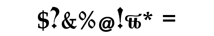 CATEngravers Font OTHER CHARS