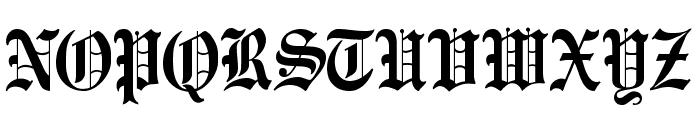 CATEngravers Font UPPERCASE