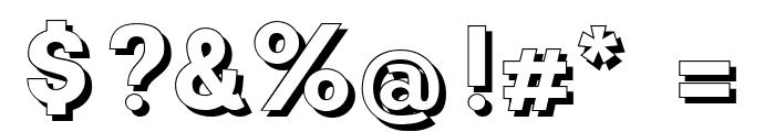 CATNeuzeitSchatten Font OTHER CHARS