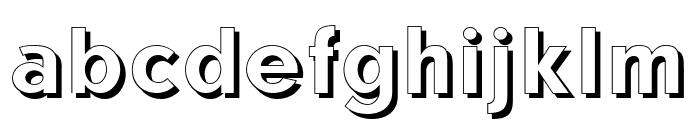 CATNeuzeitSchatten Font LOWERCASE
