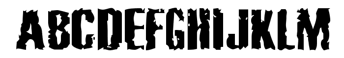 Cabeen Crappy Font UPPERCASE