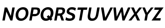 Cabin-BoldItalic Font UPPERCASE