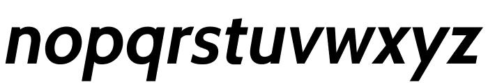Cabin-BoldItalic Font LOWERCASE