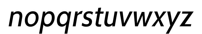 Cabin-Italic Font LOWERCASE