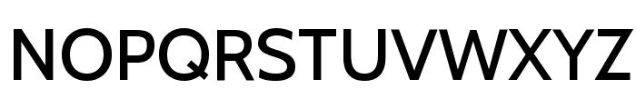 Cabin Medium Font UPPERCASE