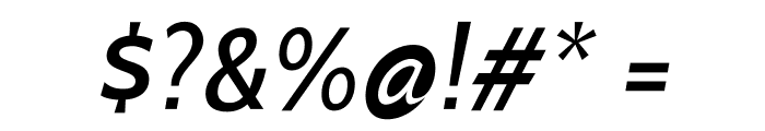 Cabin-MediumItalic Font OTHER CHARS