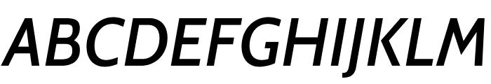 Cabin-MediumItalic Font UPPERCASE