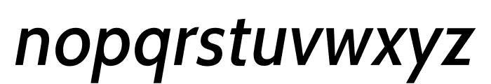 Cabin-MediumItalic Font LOWERCASE
