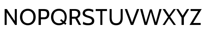 Cabin-Regular Font UPPERCASE