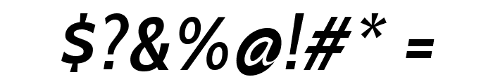 Cabin SemiBold Italic Font OTHER CHARS