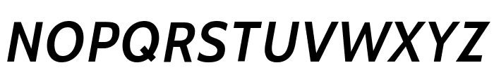 Cabin SemiBold Italic Font UPPERCASE