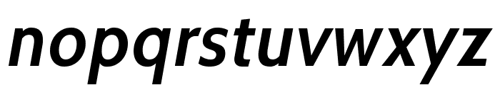 Cabin SemiBold Italic Font LOWERCASE