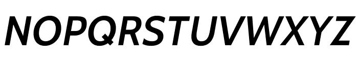 Cabin-SemiBoldItalic Font UPPERCASE