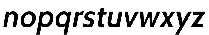 Cabin-SemiBoldItalic Font LOWERCASE
