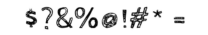 Cabin Sketch Regular Font OTHER CHARS