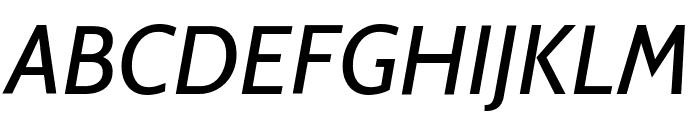 Cabin VF Beta Italic Font UPPERCASE