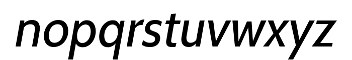 Cabin VF Beta Italic Font LOWERCASE