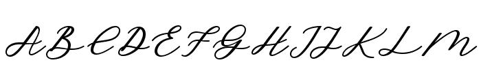 CadosaScript Font UPPERCASE