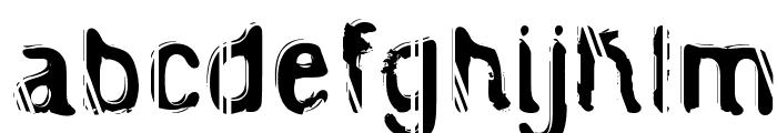 Caged Prisoner Font LOWERCASE