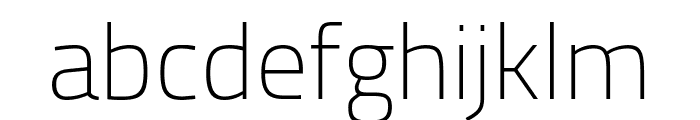 Cairo ExtraLight Font LOWERCASE