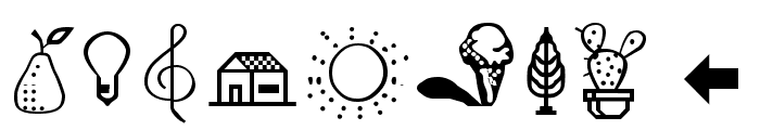 Cairo Medium Font OTHER CHARS