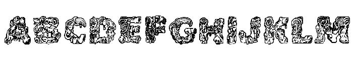 Cake Frosting Decorative Font UPPERCASE
