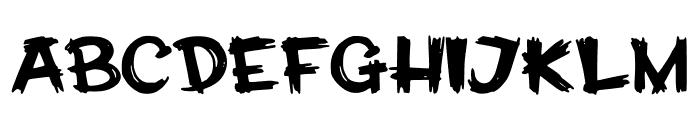 CalabarFirewood Font UPPERCASE