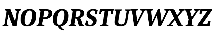 Caladea Bold Italic Font UPPERCASE