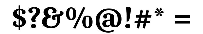 Caladea Bold Font OTHER CHARS