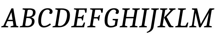 Caladea Italic Font UPPERCASE