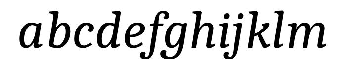 Caladea Italic Font LOWERCASE