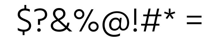 Calcutta Light Regular Font OTHER CHARS