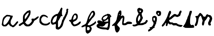 CalebsCoolHandwriting Font LOWERCASE