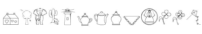 CaliKat's Path Draws LT Font LOWERCASE
