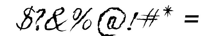 Caligraf 1435 Italic Font OTHER CHARS