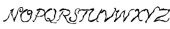 Caligraf 1435 Italic Font UPPERCASE