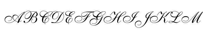 Caligraf W Font UPPERCASE