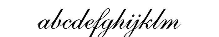 Caligraf W Font LOWERCASE