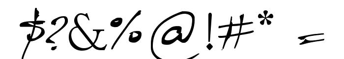 Caligrafica Arito Font OTHER CHARS