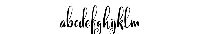 Calinastiya Demo Font LOWERCASE