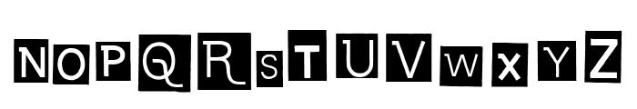 Calisthenics Font UPPERCASE