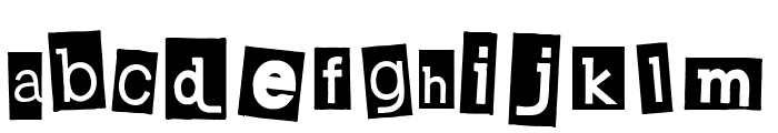 Calisthenics Font LOWERCASE