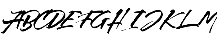 Callaghands Font UPPERCASE