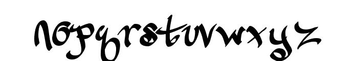CalliGravity Font LOWERCASE