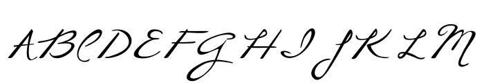 CallieHand Font UPPERCASE